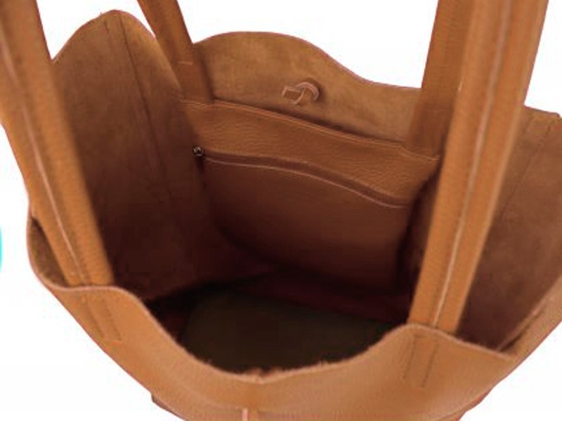 genuine leather shopping bag